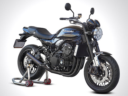 Z900RS 4-1 exhaust system with high angel short end