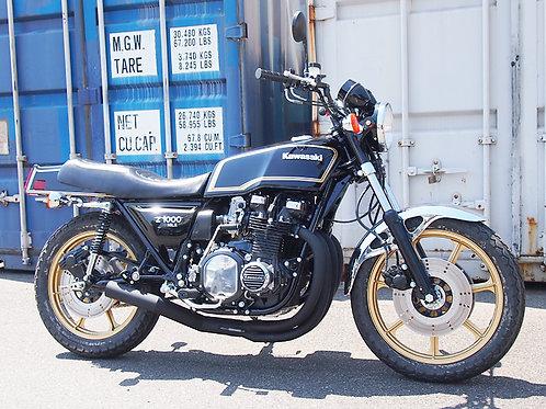 KZ1000MK2 4-1 exhaust system vintage