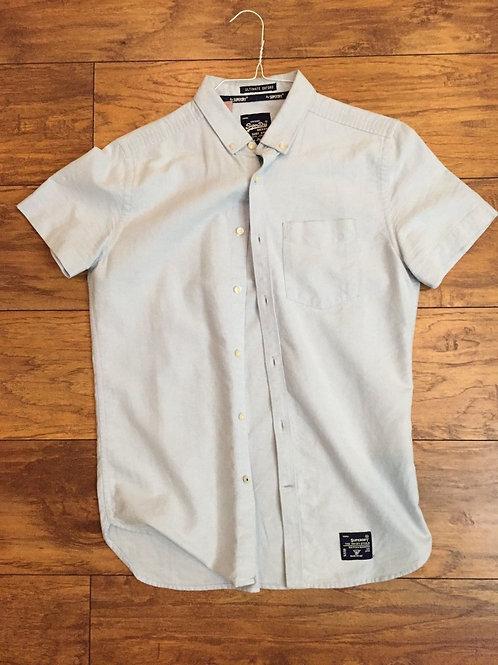 Superdry London Cotton Down Shirt Small light blue