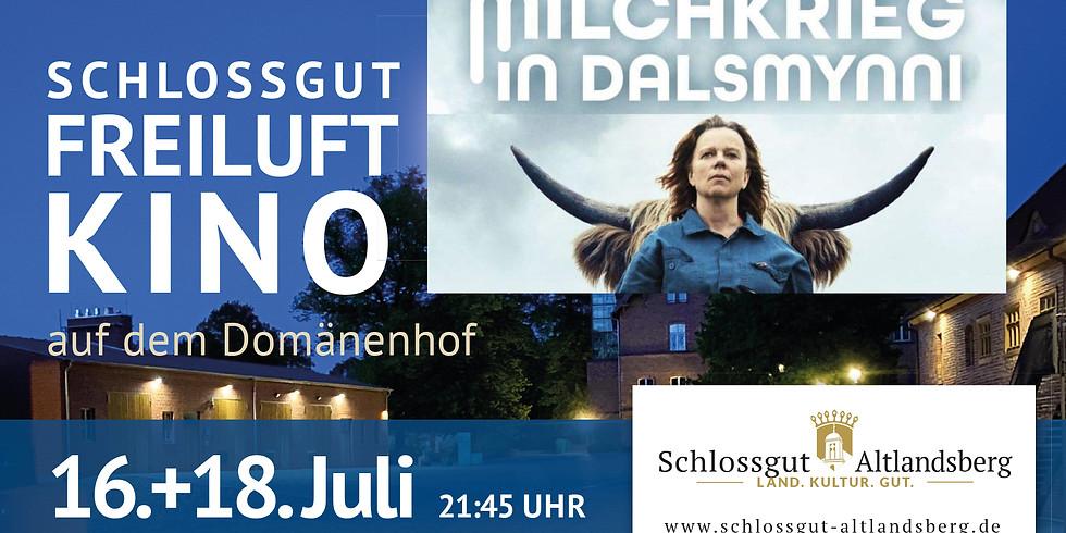 Schlossgut-Freiluftkino: Milchkrieg in Dalsmynni