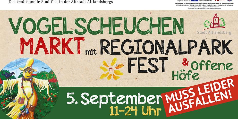 FÄLLT AUS! Vogelscheuchenmarkt mit Regionalparkfest
