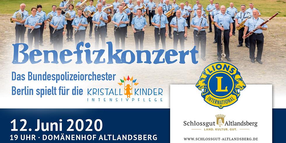 Benefizkonzert Bundespolizeiorchester auf dem Domänenhof