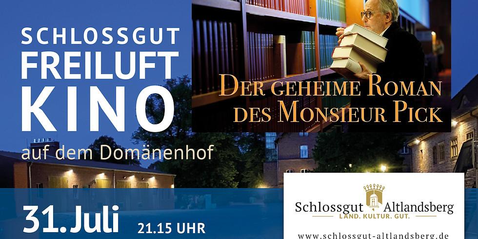 Schlossgut-Freiluftkino: Der geheime Roman des Monsieur Pick