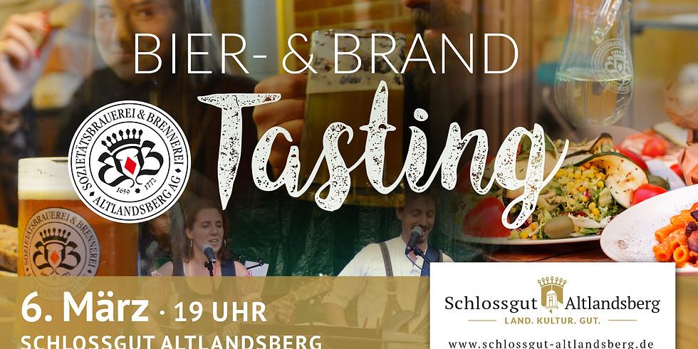 Exklusives Bier- und Brand Tasting
