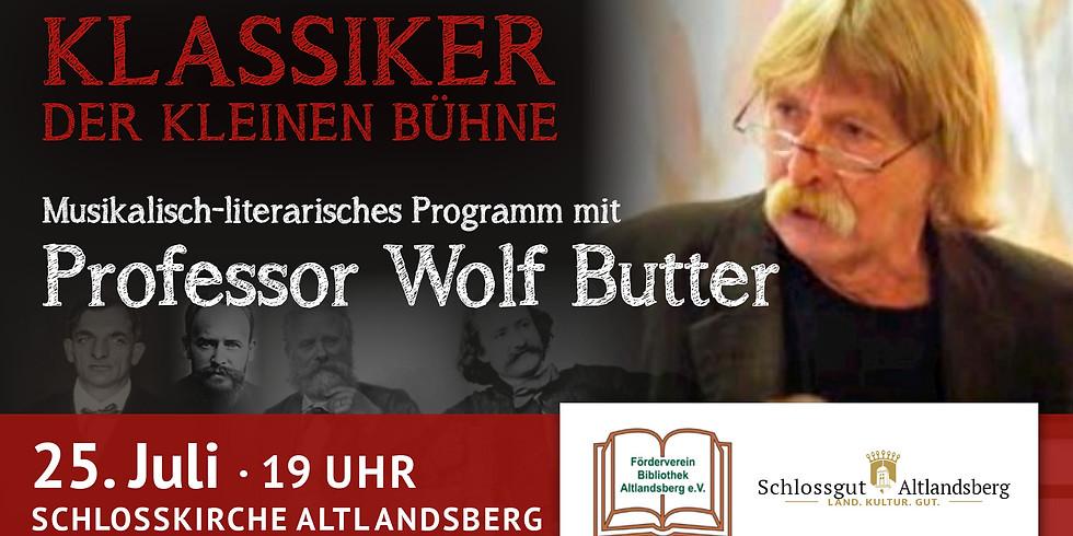 Lesung Prof. Wolf Butter