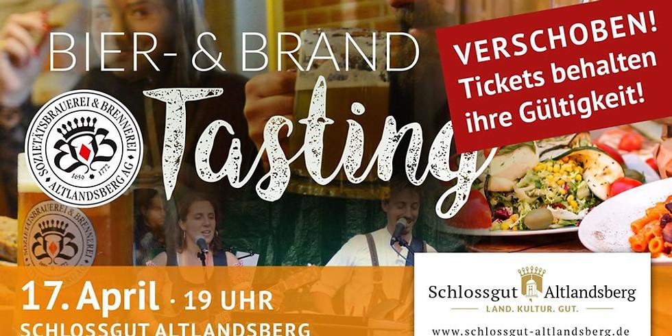 Achtung, verschoben! Exklusives Bier- & Brand-Tasting