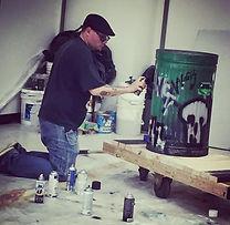 Spray paint work on tMacbeth set