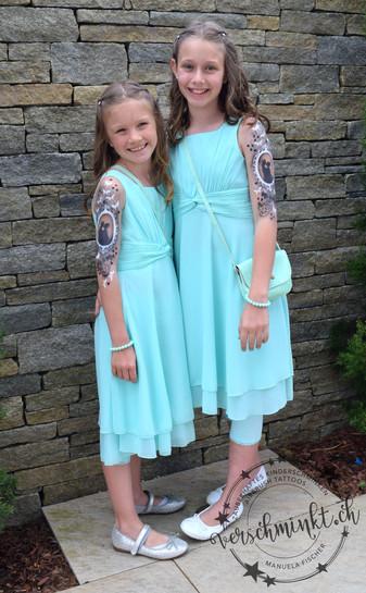 Airbrush Tattoo Hochzeit Blumenmädchen