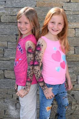 Airbrush Tattoo Kids Cupcake pink Kinderschminken