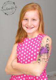 Airbrush Tattoo Cupcake pink Oberarm