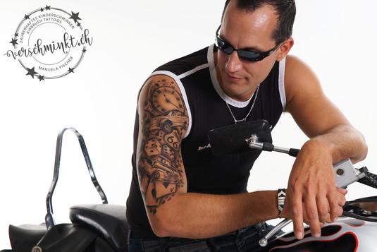 Airbrush Tattoo Route66 Oberarm