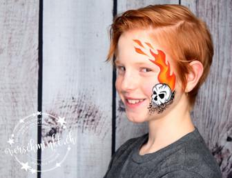 Flammenskull Jungs Eyedesign
