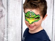 Dino Maske schminken Kinderschminken