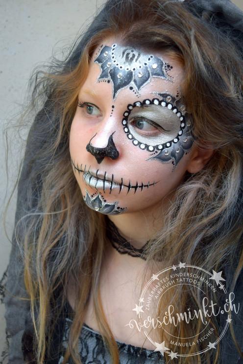Sugar Skull Silber
