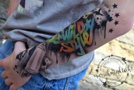 Airbrush Tattoo Wild Style Unterarm Kinderschminken