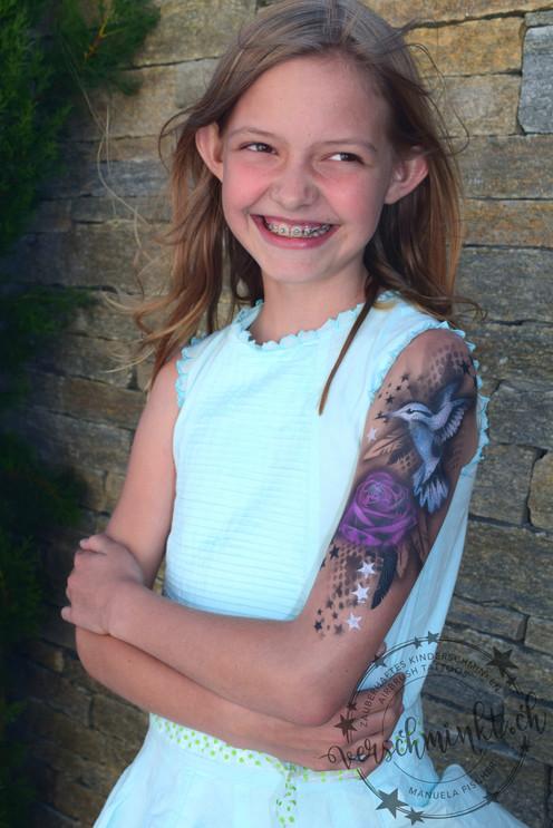 Airbrush Tattoo Vogel Kids