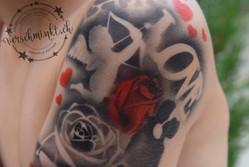 Airbrush Tattoo Amor Love Kids