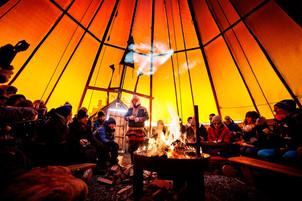 Storytelling in a Sami lavvu