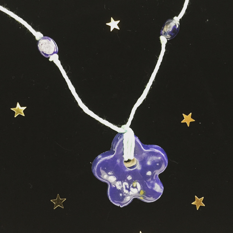 Purple Blue Magic Flower