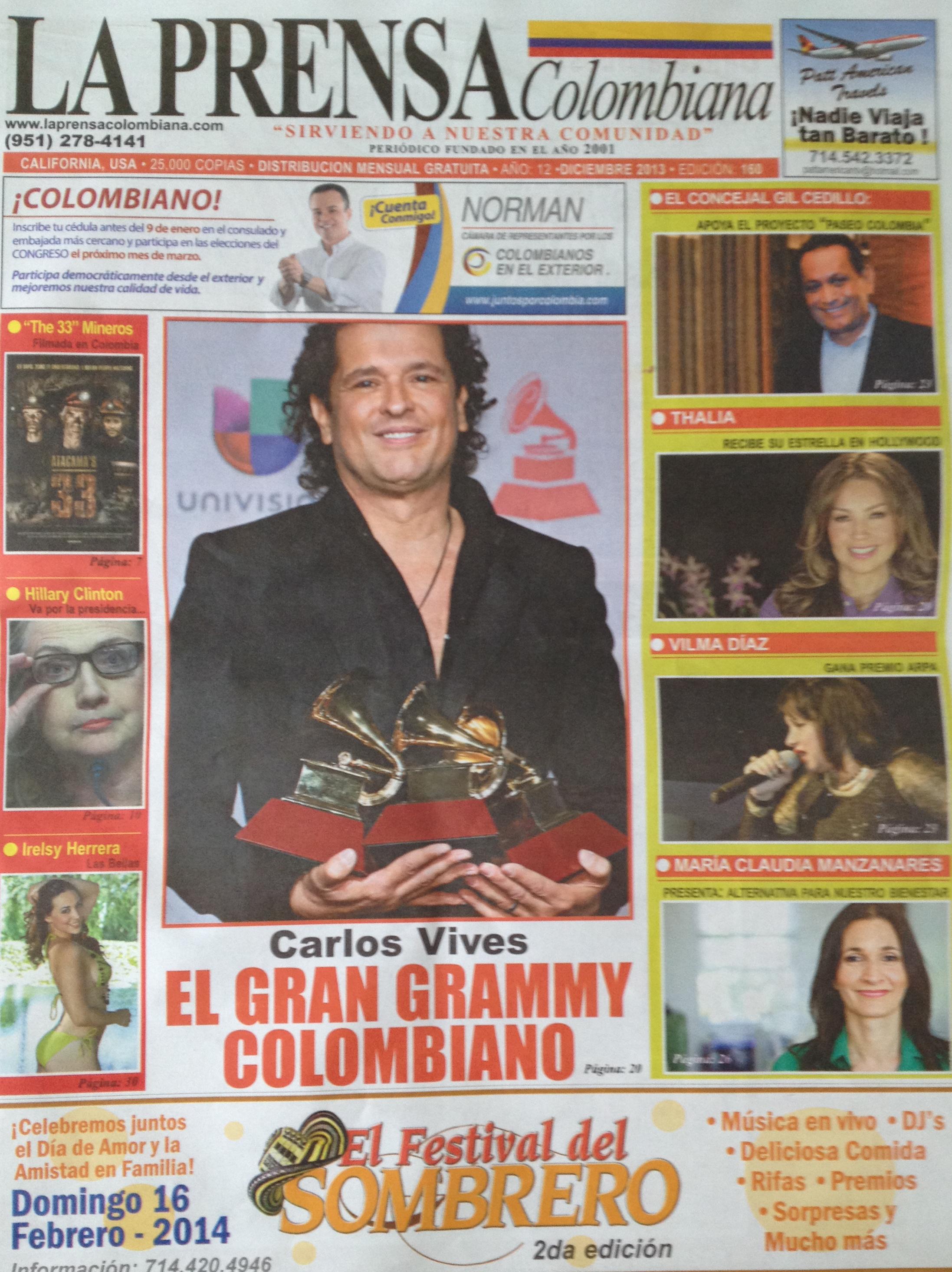"""Article in """"La Prensa"""""""