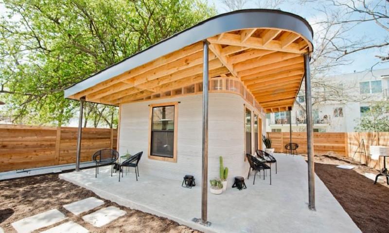 Casa construída com impressora 3D