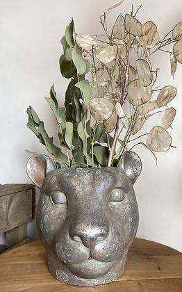 Leopard head planter