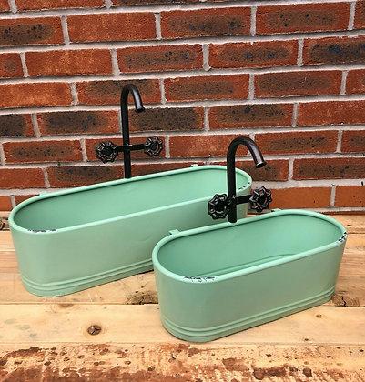 Set Of Two Novelty Shower/Tap Aqua Pot Planter