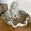 Thumbnail: Leaf shaped bird bath dish little boy