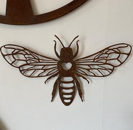 Rustic bee wall hanging