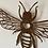 Thumbnail: Rustic bee wall hanging