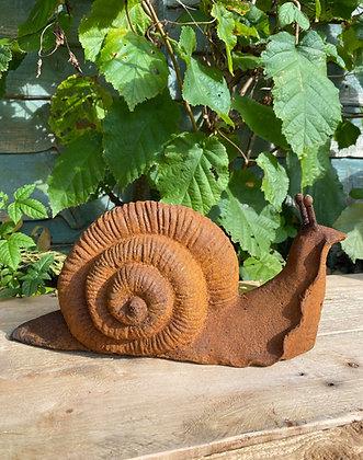 Rust Effect Cast Iron Snail
