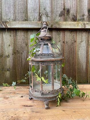 Antiqued Rose Gold Circular Lantern