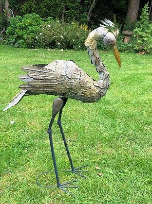Tin Art Heron
