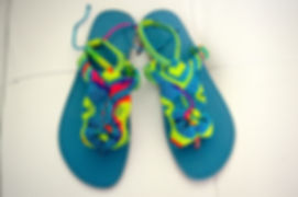 Freedom Sandals #1 turquoise, yellow, gr