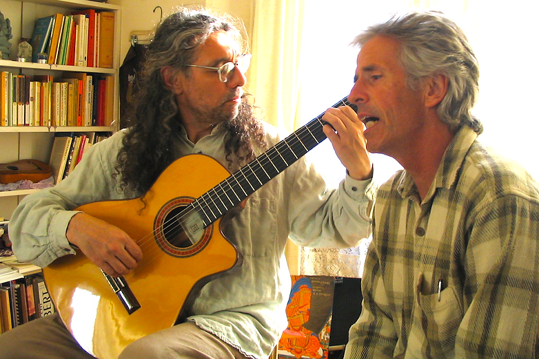 Dhyani and Don, recording the album Poem