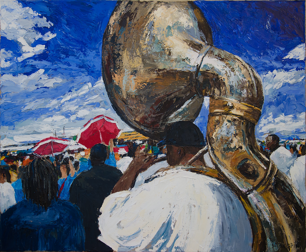 Tuba-player with red umbrellas.png