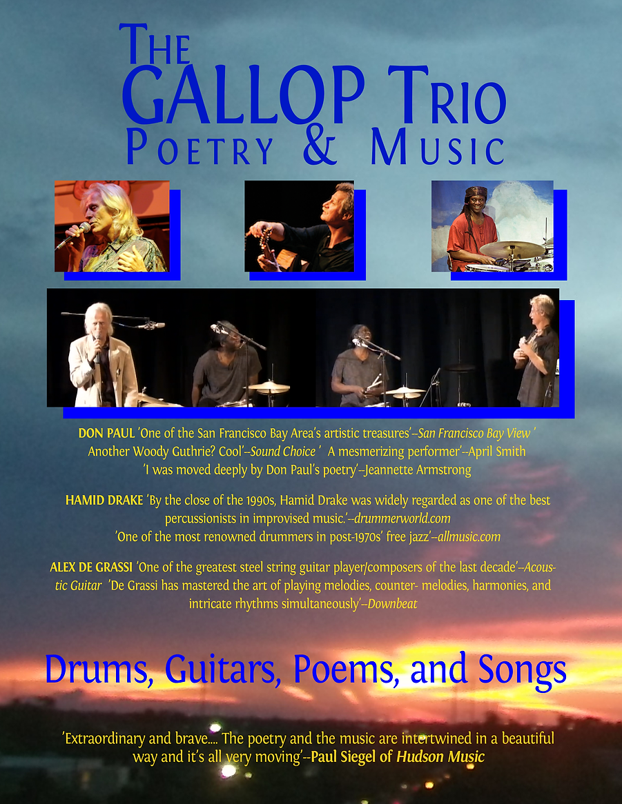 GALLOP Trio very good poster with Paul S