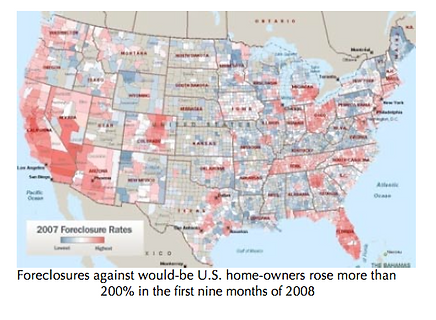 U.S. homes foreclosed in first 3:4 2009.