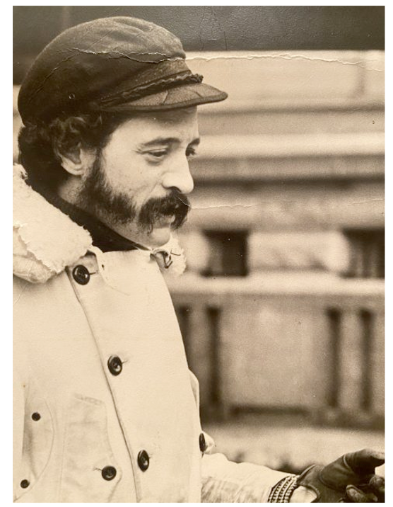 q.r. with mustache, beard around 1970.pn