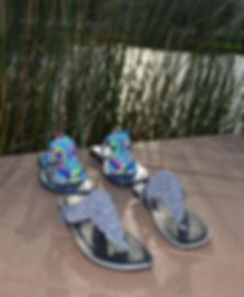 Freedom Sandals, two models under brilli