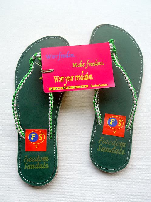 The Slide model, Green on Green, size 7