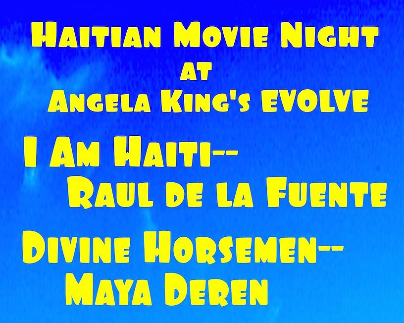 Haitian Movie Night upper half--title on