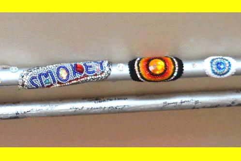 """""""Smokey"""", Cherice Harrison-Nelson's Giant Sticks honor Smokey Johnson and"""