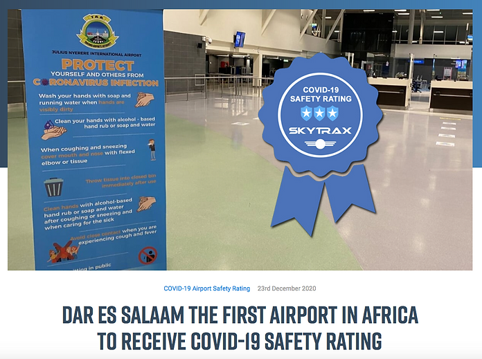 Dar Airport SkyTrax Safety Rating.png