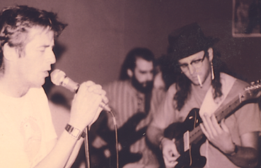 •1990, May, with Jon and George of the S