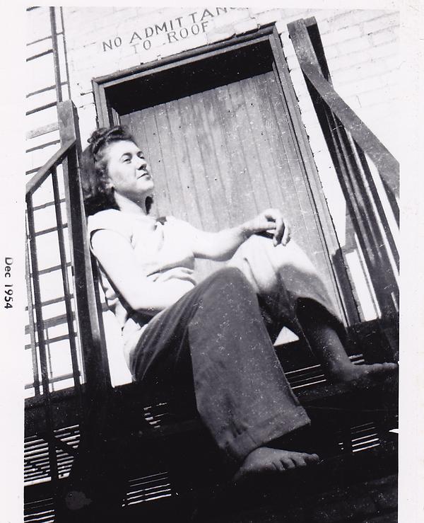 Betty in Brandon, December 1954--life of