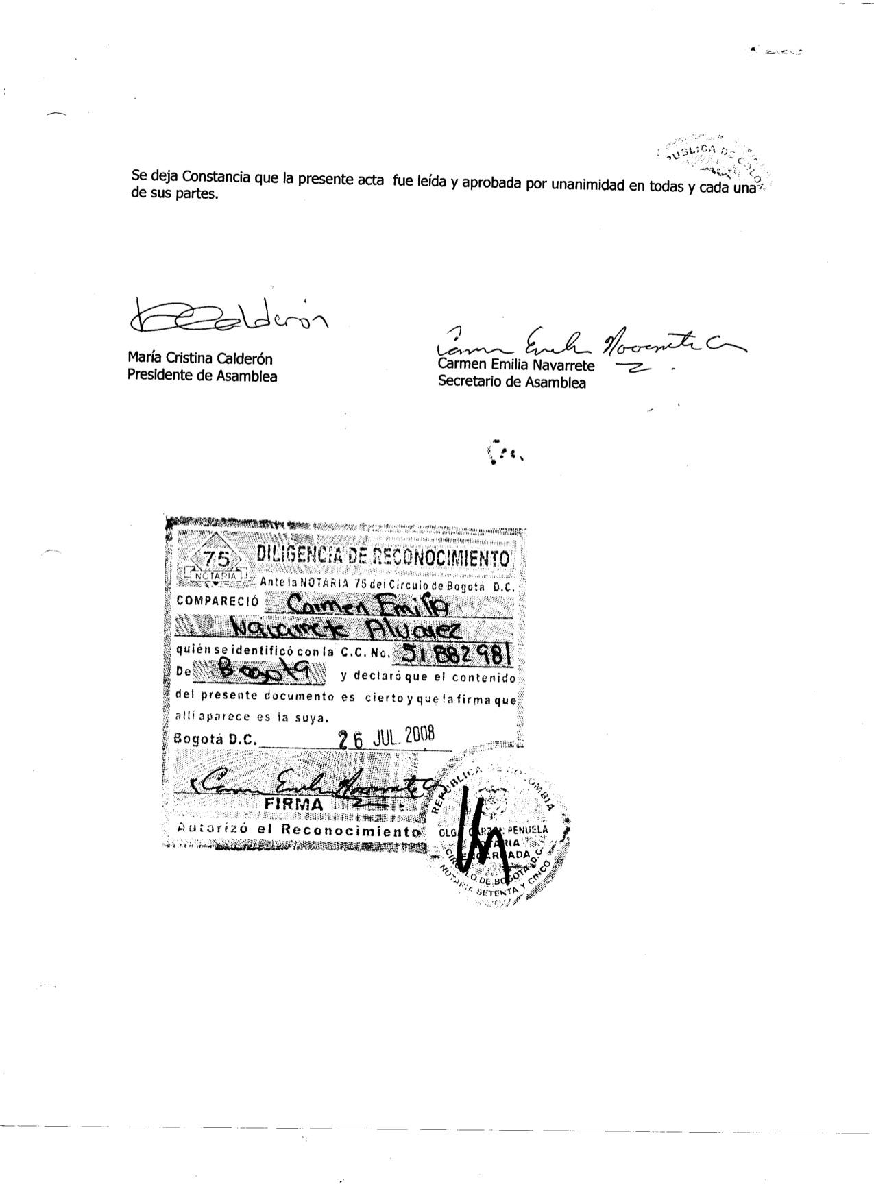 ACTA DE CONSTITUCION JUNTA DE ASOCIADOS N. 001-2 4