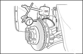 Замер биения тормозного диска Спб биение