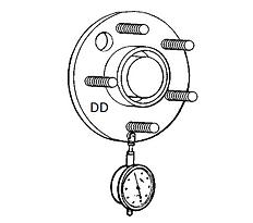Проверка радиального биение ступицы Спб