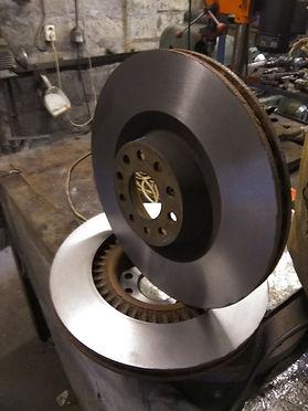 Проточка тормозных дисков со снятием преимущества